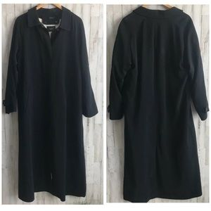 Sanyo Full Length Coat Size Large Mens Black Polye